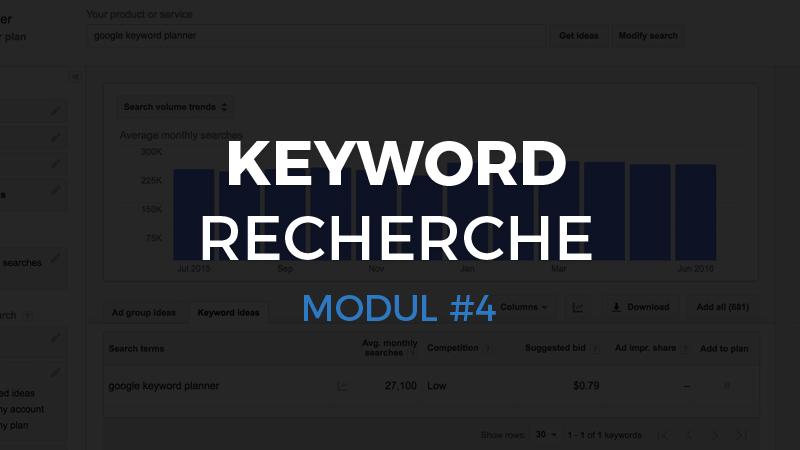 Modul #4 – Keyword Recherche
